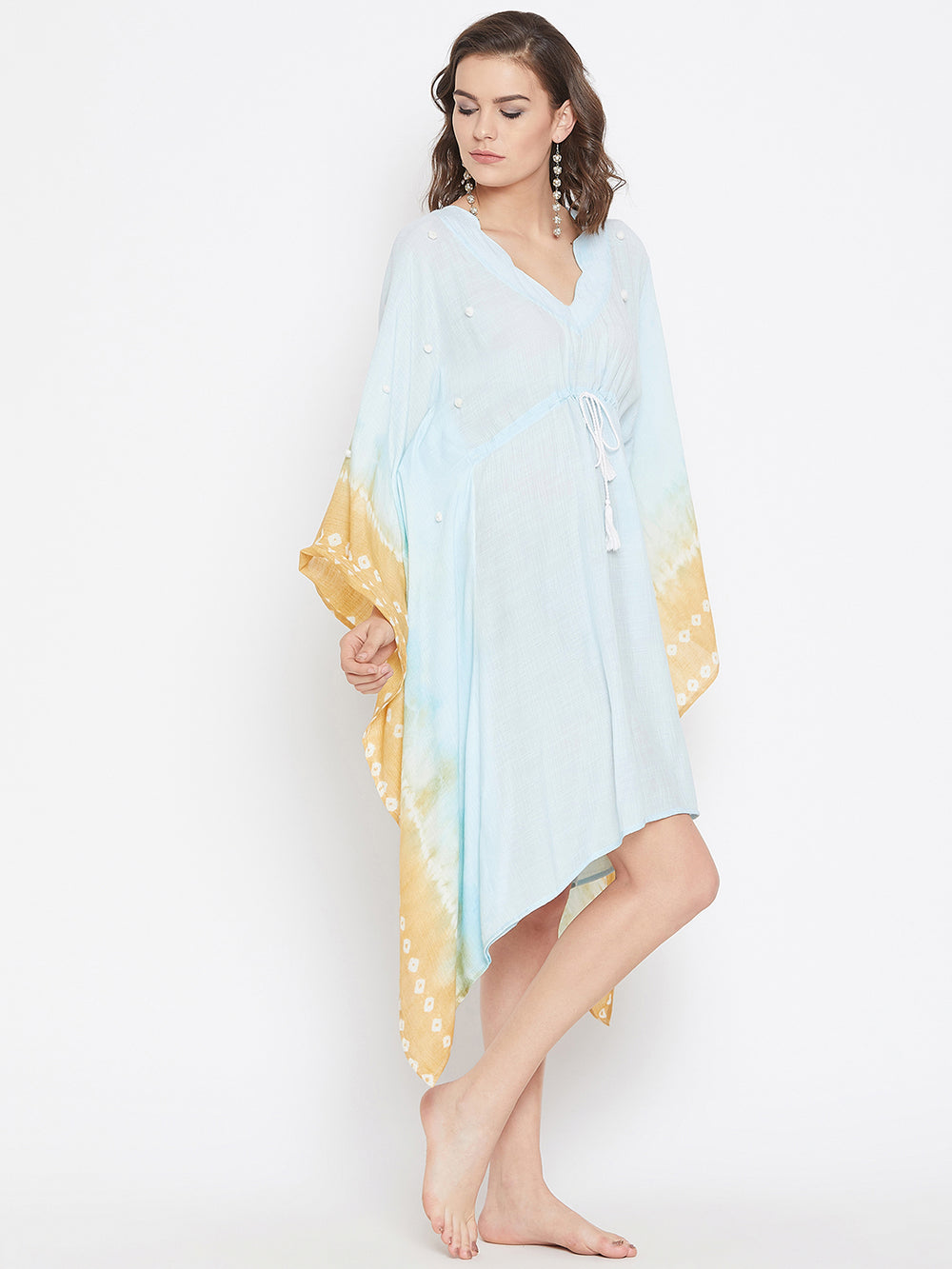 Sandy Skies Tie-Dye Kaftan Cover-Up