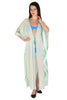 TROPIC GREEN LACE ME KAFTAN