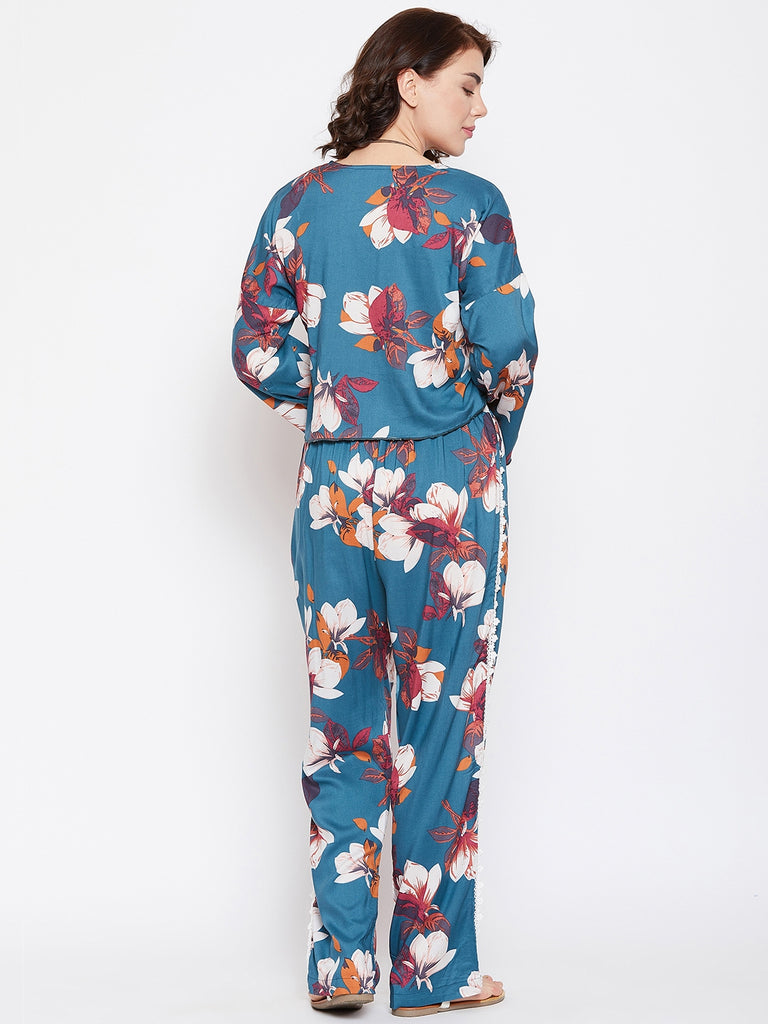 FLOWER POWER TOP & PANT RESORT SET