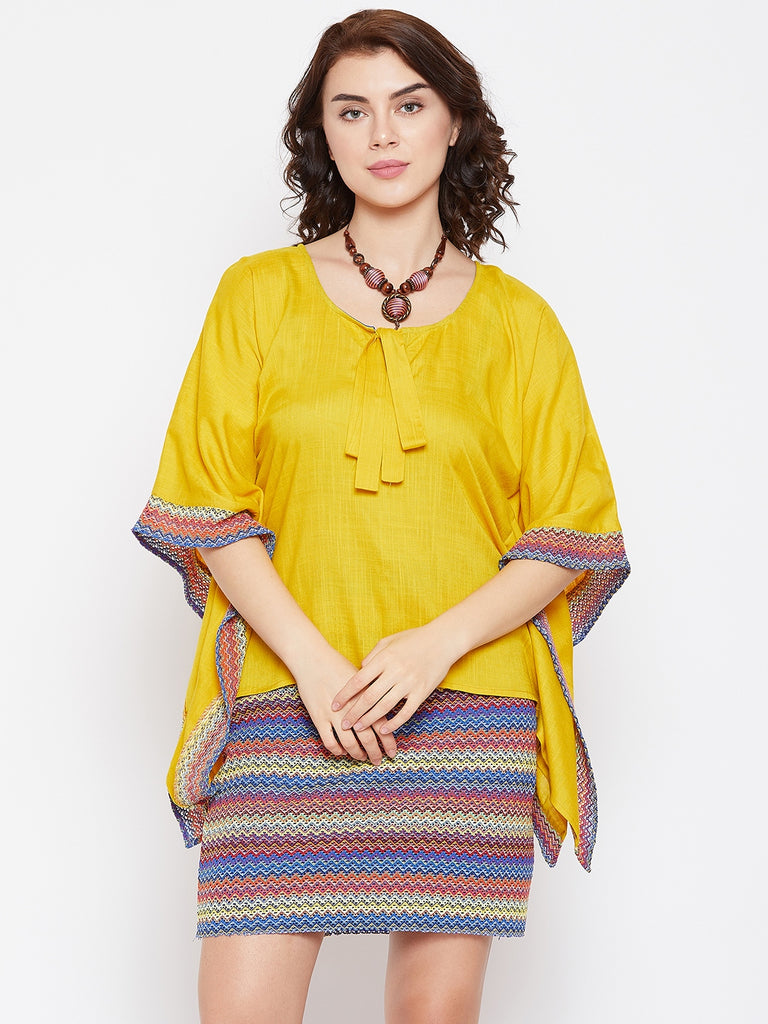 SUNSHINE KAFTAN TOP & MINI SKIRT SET