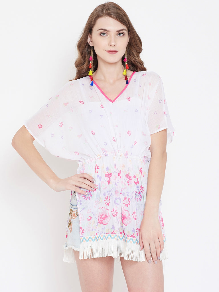 FLORAL PRINTED KAFTAN TOP