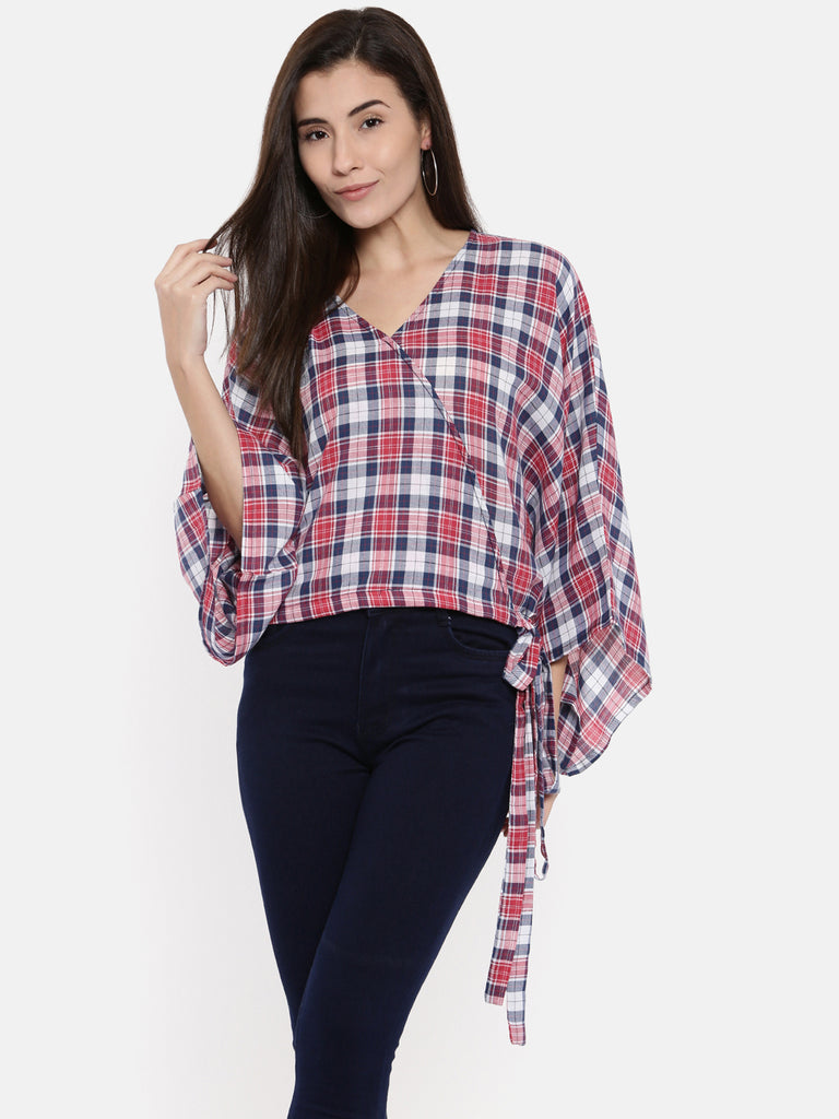 Muted MacDonald Tartan Crop Top