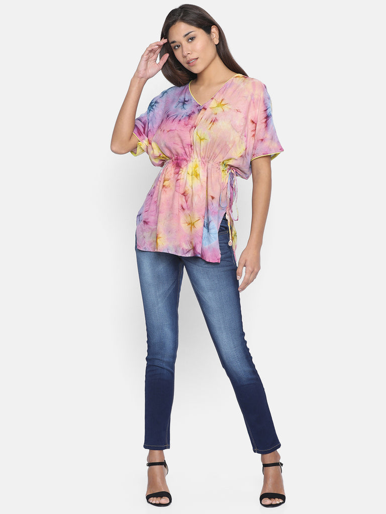 SUNSHINE TIEDYE KAFTAN TOP