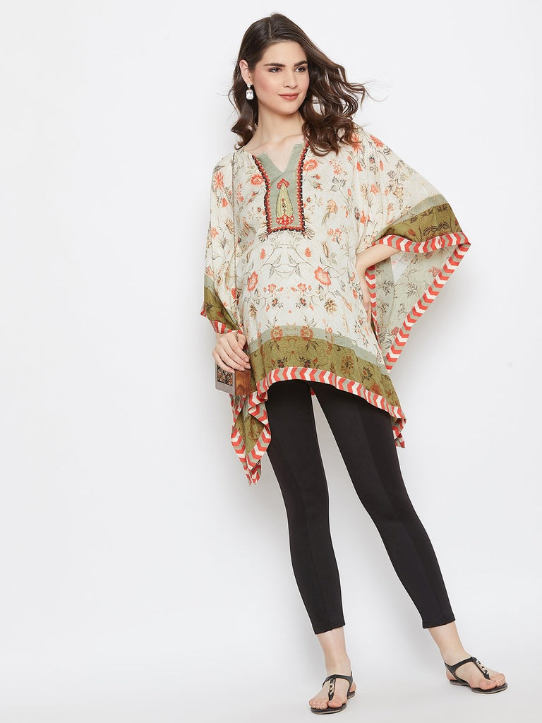 PALAMPORE PRINTED MATERNITY KAFTAN TOP
