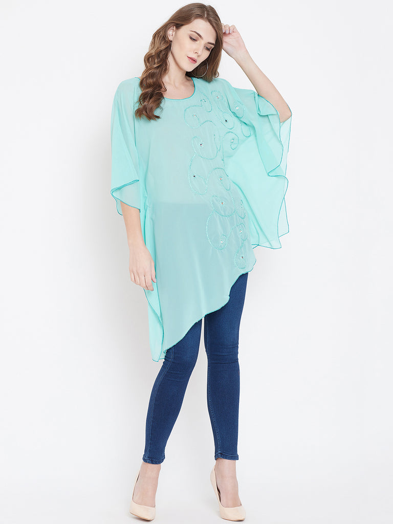 ICEY BLUE KAFTAN TOP