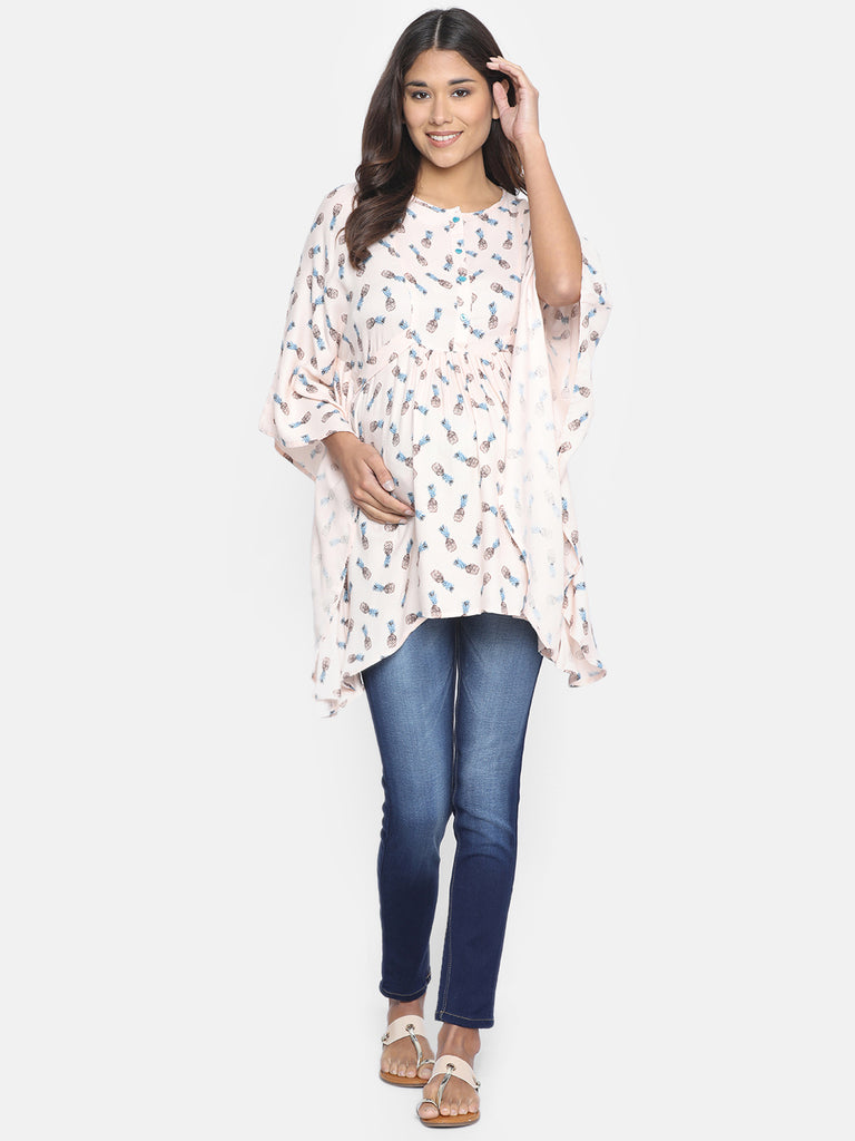 PINEAPPLE PUNCH MATERNITY WEAR KAFTAN TOP
