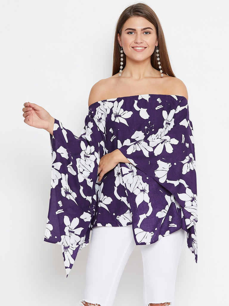 FLOWER POWER KAFTAN TOP