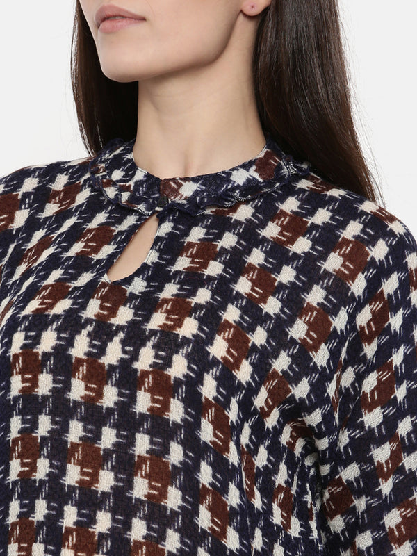 PREMIUM WOOL HOUNDSTOOTH TOP