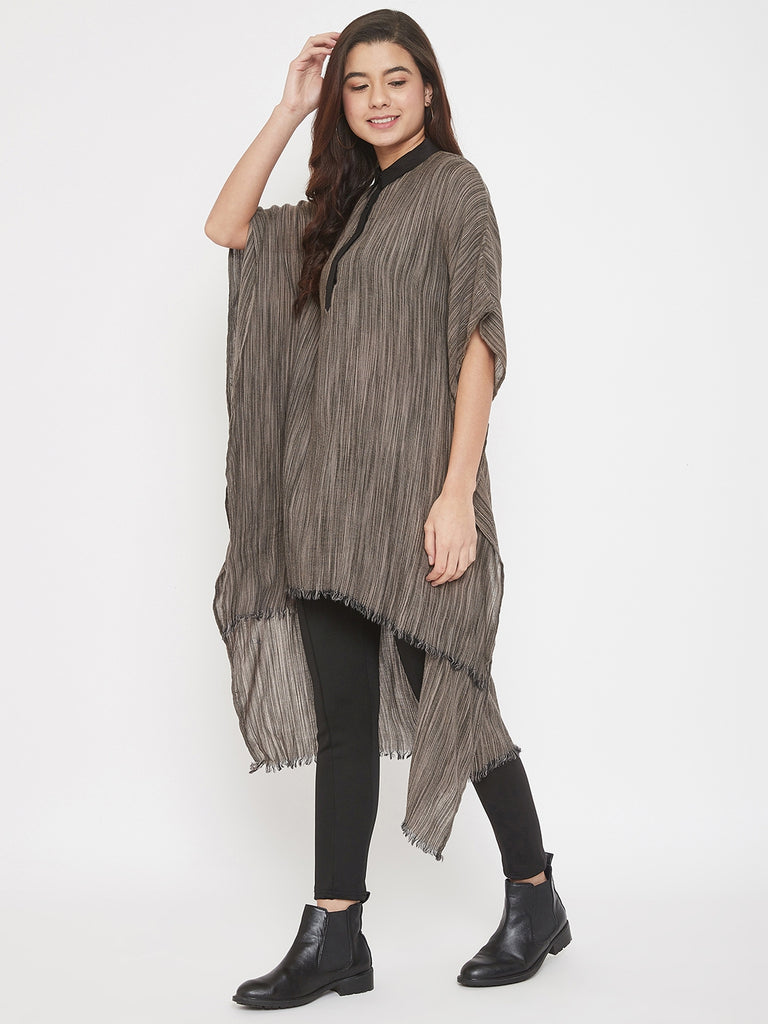 PREMIUM WOOL HIGH-LOW KAFTAN TUNIC SHIRT