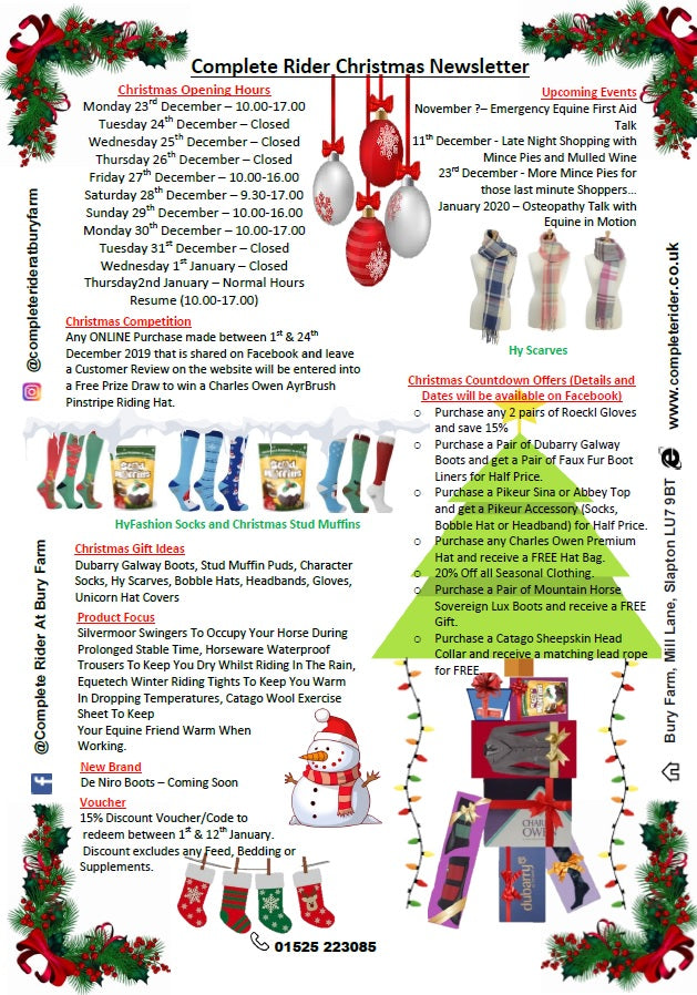 Complete Rider Christmas Newsletter