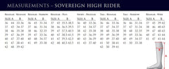 Sovereign Size Chart