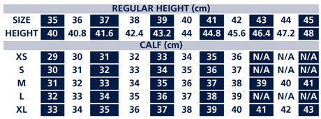 shires norfolk boots size chart