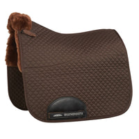 WB Merino High Wither Dressage Saddle Pad Chocolate