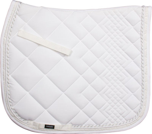 Catago Diamond Saddle Pad - White