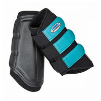 Weatherbeeta Single Lock Brushing Boot Black/Turquoise