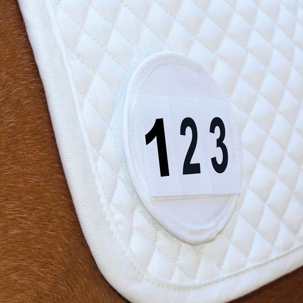 Equetech Saddle Cloth Number White Single