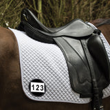 Saddle Cloth Number Patent Black