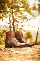 Aurora Lace Boot Brown