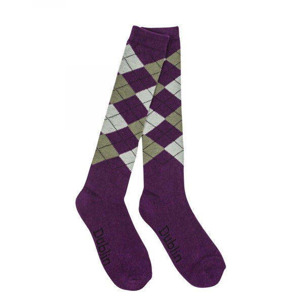 Dublin Argyle Sock Purple