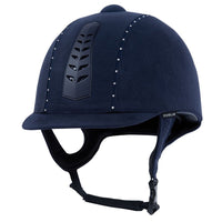 Dublin Silver Pro Diamante Riding Hat Navy