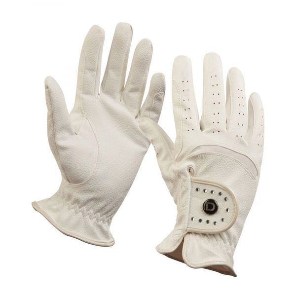 Dublin Diamante Dressage Glove White
