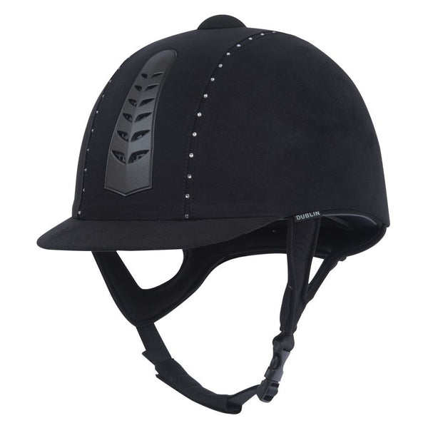 Dublin Silver Pro Diamante Riding Hat Black