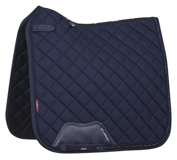 Diamante Dressage Pad navy