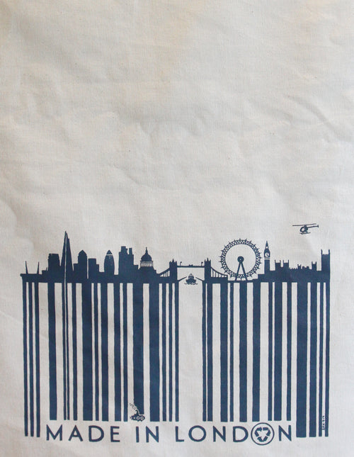 BARCODED IN LONDON SAX TEA TOWEL