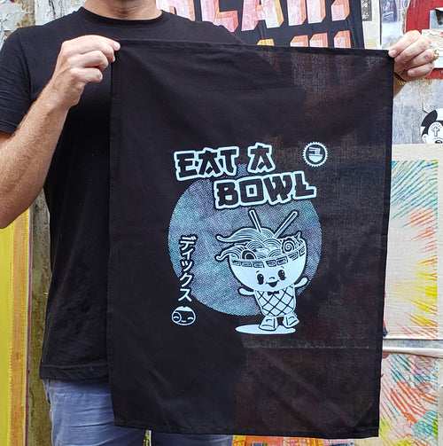 EAT A BOWL SAX TEA TOWEL