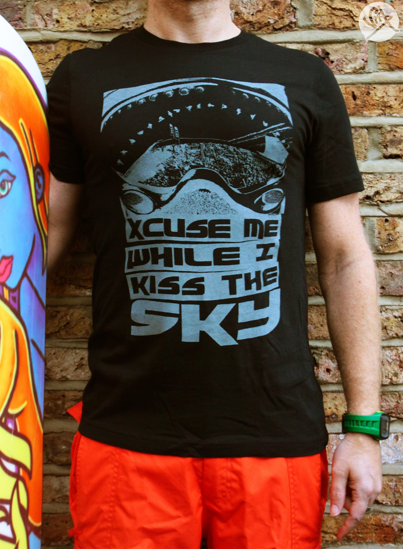 SAX TEES - KISS THE SKY Snowboarding T Shirt by SAXTEES
