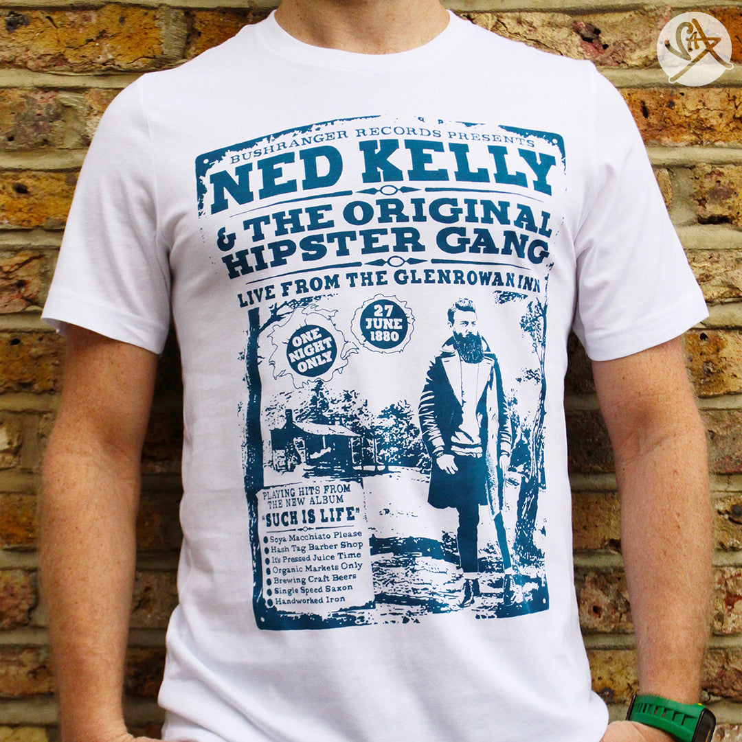 Ned Kellys Hipster Gang Outlaw T Shirt By Saxtees