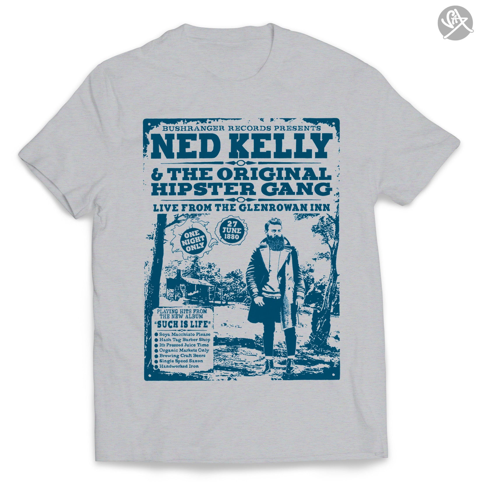 SAX TEES - NED KELLY'S HIPSTER GANG OUTLAW T Shirt