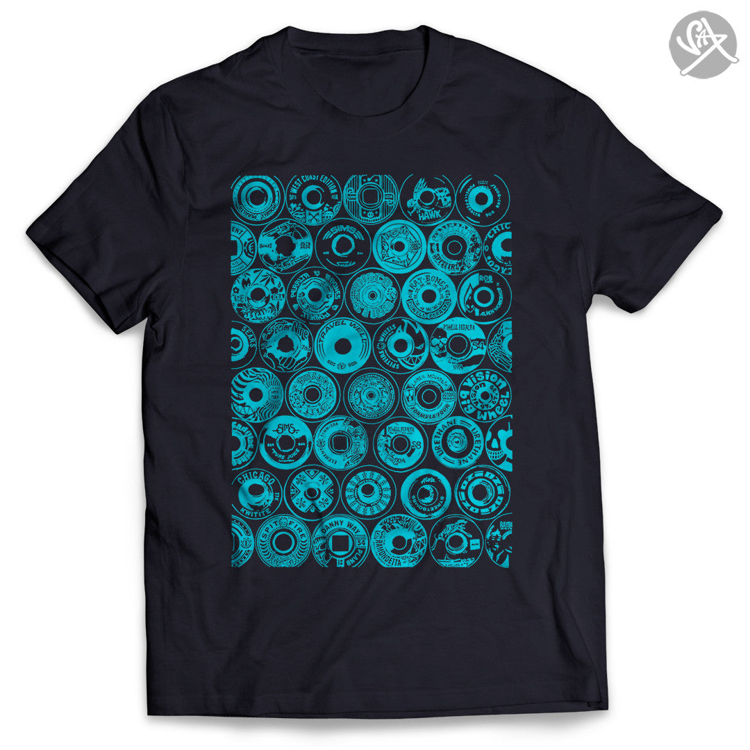 SAX TEES REAL ART - SKATE WHEELS T Shirt by SAXTEES