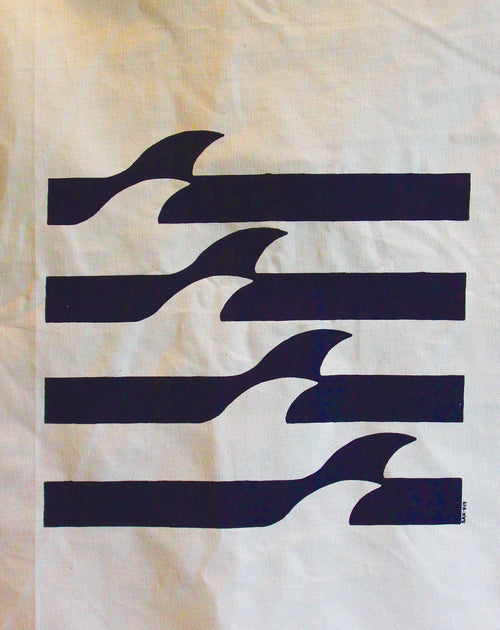 SAX TEA TOWEL - SHARK WAVE PATROL