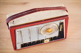"Radio Bluetooth ""Imperator Interlude"" des années 1961 restaurée à la main par Charlestine photo vu du dessus."