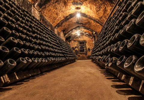 Storing wines in a cellar