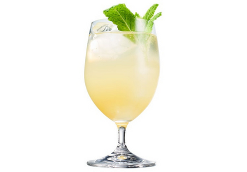 Ginger Lime Spritz with wine