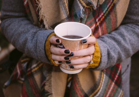 Warmed mulled wine