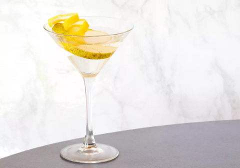 French Pear Martini with wine