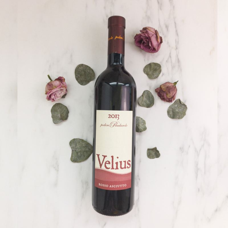 All Natural Red Wine Velius Rosso Asciuto 2013 With Blueberries, Tobacco, Balsamic Notes