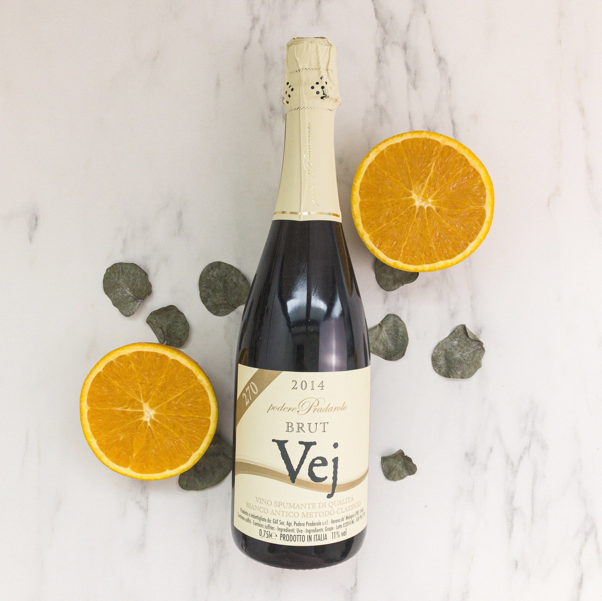 An Italian Orange Wine that is bubbly from Italy made with classic Champagne method