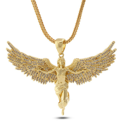 14K Gold  Soaring Angel Chain