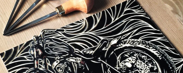 Making Of: 1976 Shovelhead Linocut Print