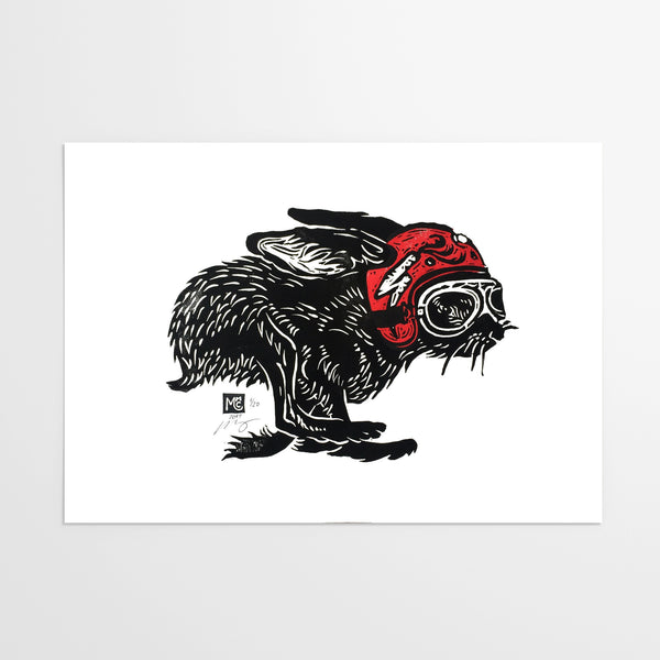 linocut prints easy does it motorcycle linocut print gone undone