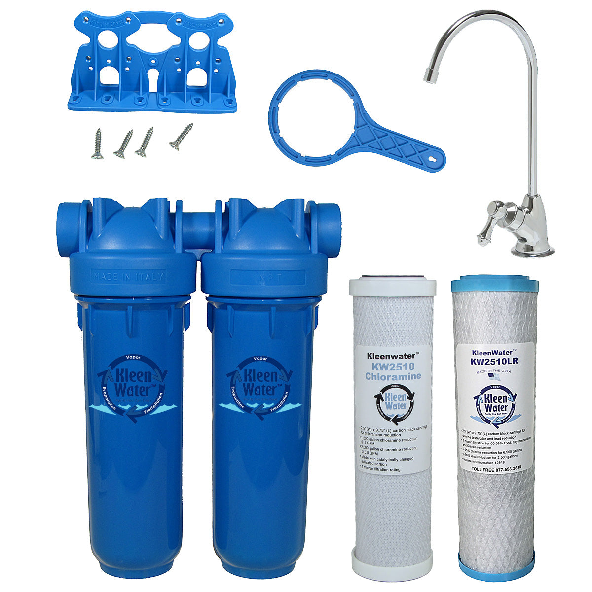 Drinking Water Filter, Lead Chloramine Chlorine Sediment Chrome Faucet