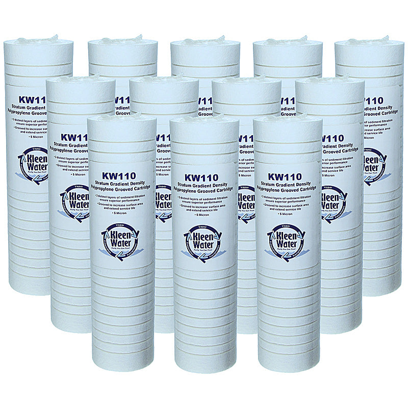 Aqua-Pure AP110 Compatible Filter, Sediment Water Filter, 12-Pack - Kleenwater