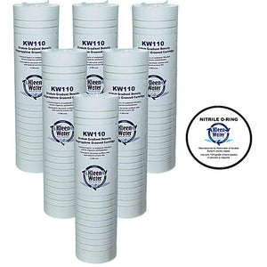 Six AP110 Aqua-Pure Compatible Water Filters with O-ring - Kleenwater