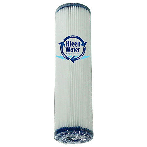 Dirt Rust Sediment Pleated Water Filter Cartridge 2.5 x 10 Inch - Kleenwater