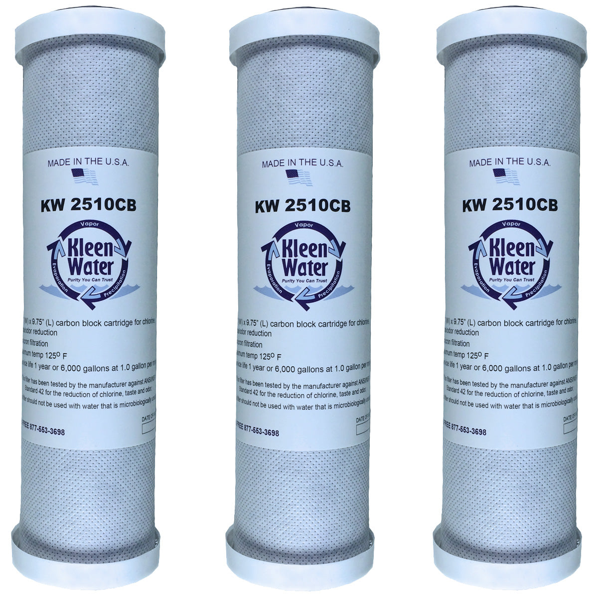 3 Watts (WCBCS975RV) Compatible Carbon Block Water Filter Cartridges