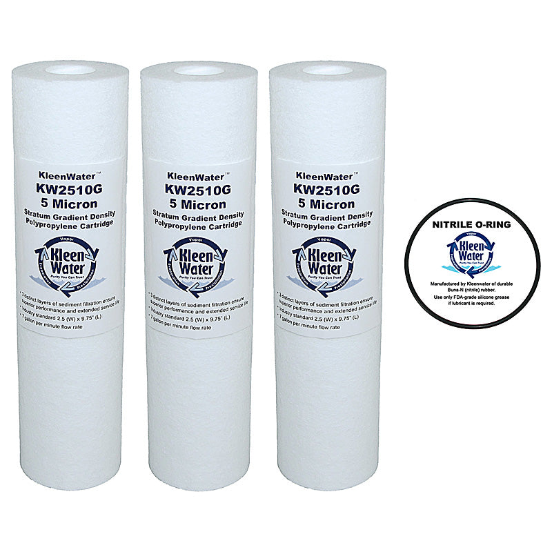 Three GE GXWH04F, GXWH20F, GXWH20S, GXRM10  Compatible Filters - Oring